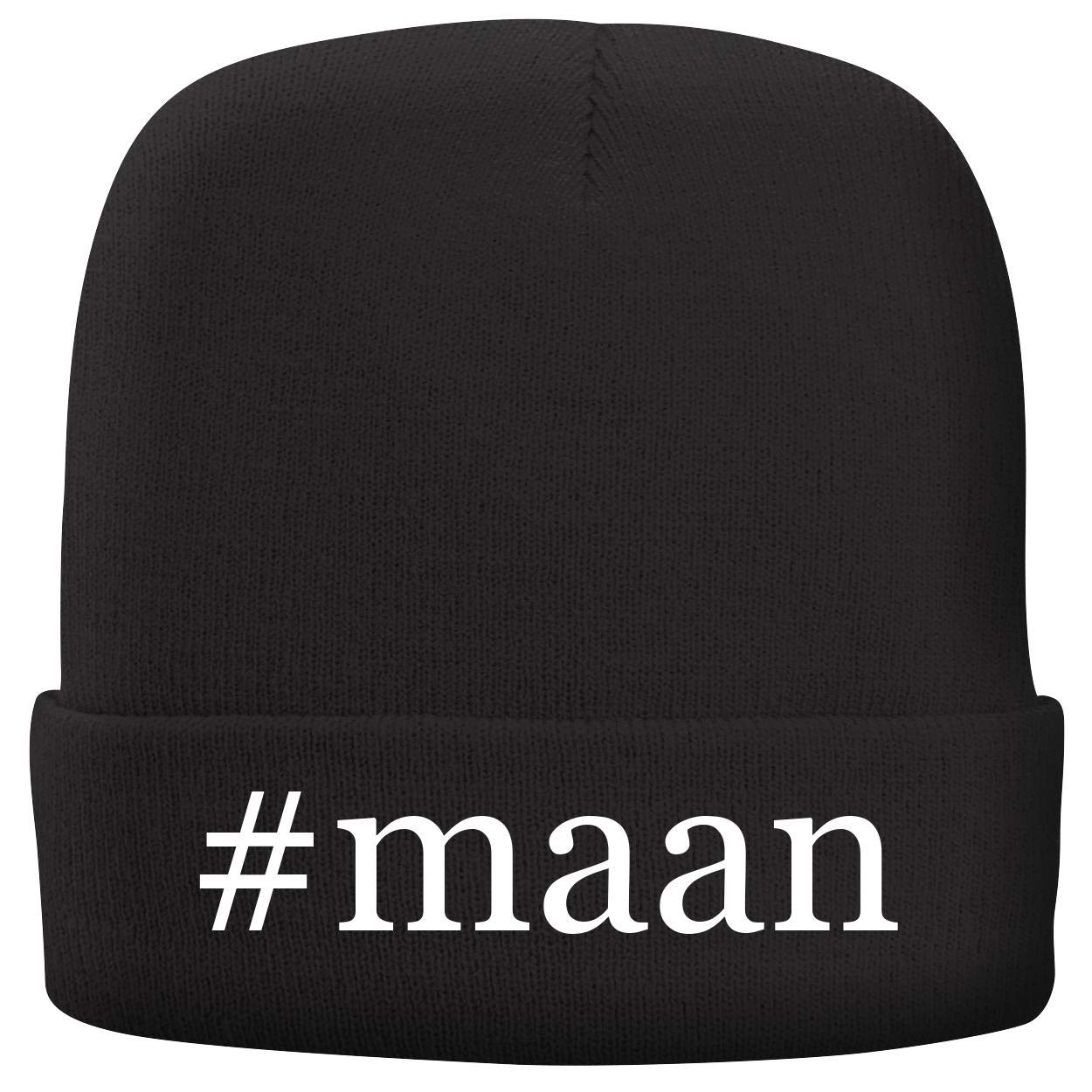 BH Cool Designs #maan - Adult Hashtag Comfortable Fleece Lined Beanie, Black by BH Cool Designs