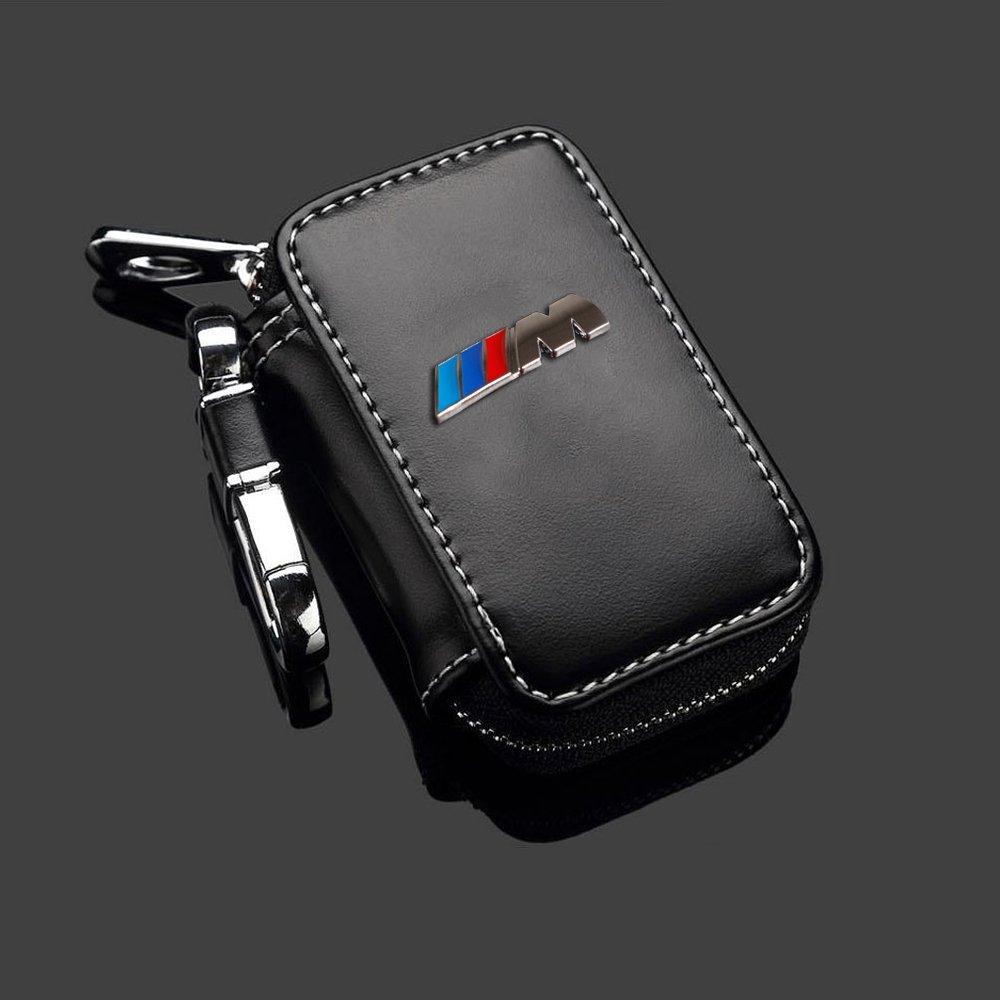 BMW Estuches de Llaves Coche Auto de llave Key Cover Case Funda para Llavero de Piel con Cremallera X00-17 buy-buy-buy