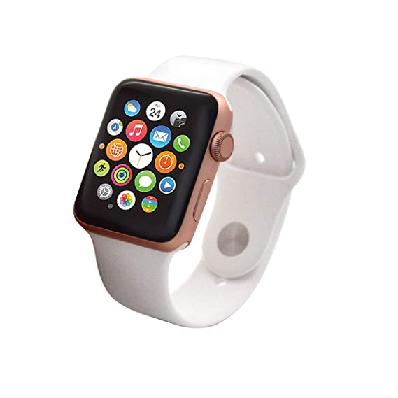 c74afd35c48 Amazon.com  Apple Watch Series 2 Smartwatch 38mm Gold Aluminum Case White  Sport Band GPS (Renewed)  Cell Phones   Accessories