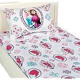 Disney Frozen Twin Bed Sheet Set Anna Elsa Snowflakes Bed