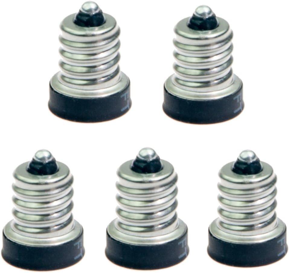 Bulb Base Adapter E12 to E10 Light Sockets Adapter Converts E12 Bulb Male Base to fit E10 Female Socket Light Bulb Socket Pack of 10