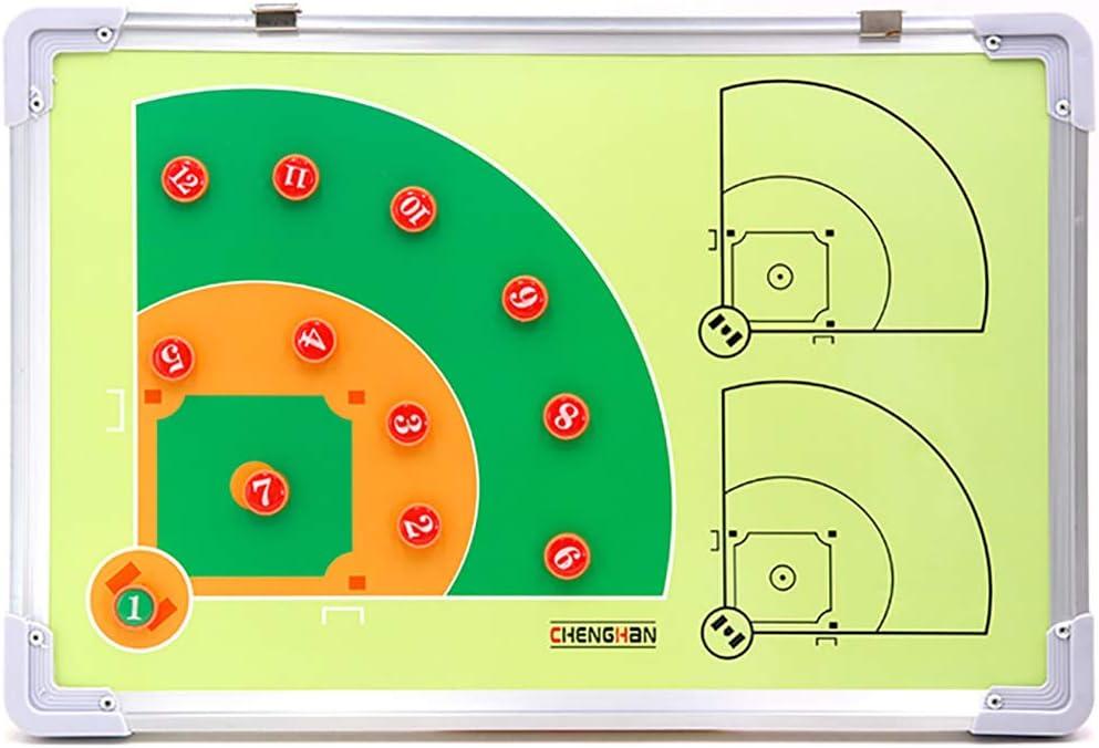 HaiYang Doble Cara Carpeta Táctica Tablero de aleación de Aluminio - Junta de Entrenadores para Béisbol Voleibol Fútbol/Fútbol con Piezas de Marcador Baseball Tactic Board: Amazon.es: Deportes y aire libre