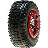 Team Losi Tires Mounted Chrome: Micro SCT(4)