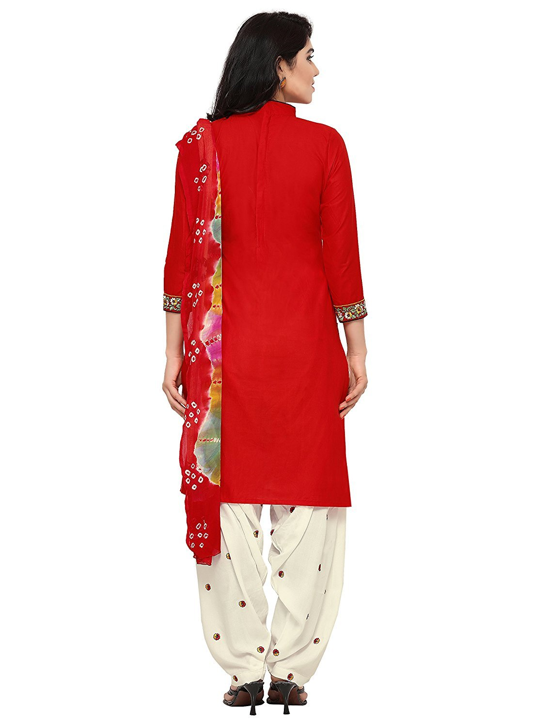 Dream Angel Fashion DreamAngel Women's Cotton Patiala Salwar Suit (Ready Made) (Medium) by Dream Angel Fashion (Image #5)