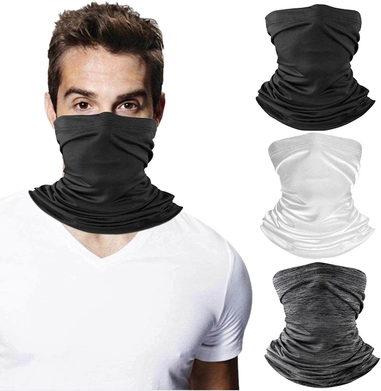 SUOWEI Face Covering Balaclava Watercolor Floral Headband Neck Gaiter Mask Breathable Face Bandana Mask for Men /& Women