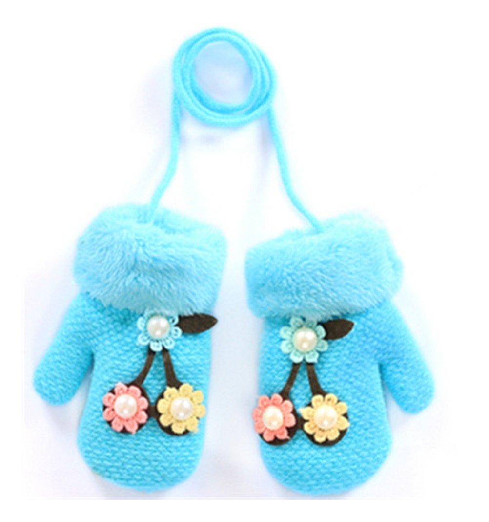 Moolecole Cute Flower Handschuhe Baby Mädchen Kleinkind Kind Magie Fäustlinge