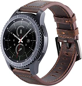 Gear S3 - Correa de Piel para Reloj Samsung Gear S3 Frontier/Classic, Moto 360 2nd Gen (46 mm)