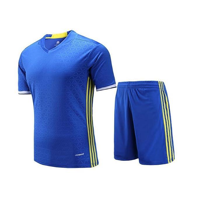Hombre Mujer Ropa de fútbol Camiseta de Entrenamiento de fútbol de Manga Corta Camisa de fútbol para niños Sudaderas y Pantalones Cortos: Amazon.es: Ropa y ...
