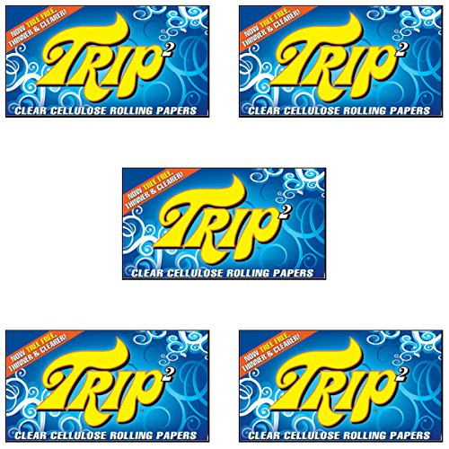 Trip2 {5 Packs} Trip 2 Clear 1 & 1/4 Rolling Papers
