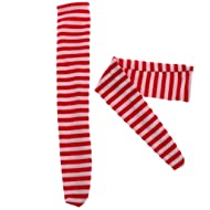 01f27674f Homyl BJD Clothing Red   White Striped Long Socks Stockings for 1 3 SD AS