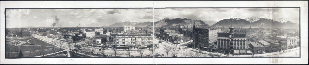 Utah 42 Vintage Panorama photo c1914 Ogden