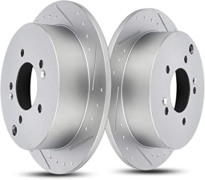 For Hyundai Tucson Kia Sportage Front /& Rear Drilled Slotted Brake Rotors