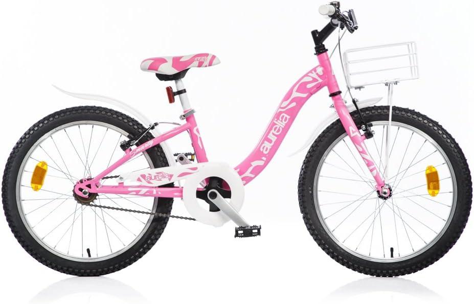 Bicicleta Niña Dino Bikes Aurelia Smarty 20 Pulgadas Frenos Aluminio V Rosa: Amazon.es: Juguetes y juegos