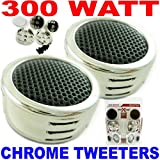 300 Watt Chrome Car Tweeters 100 Pairs Wholesale!