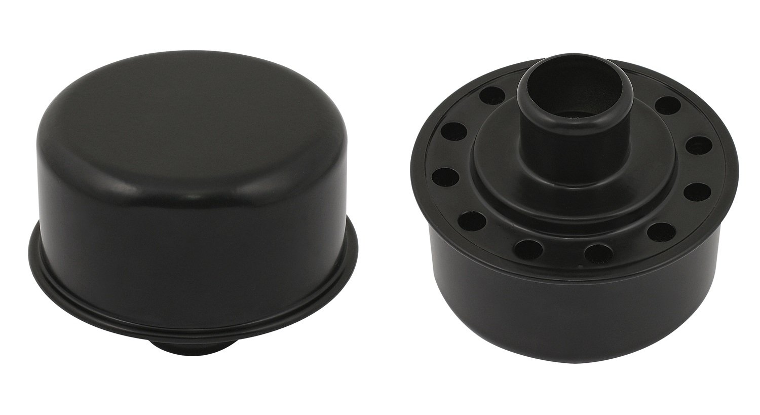 Mr. Gasket 9810BP Flat Black Push-On Style Breather Cover by Mr. Gasket