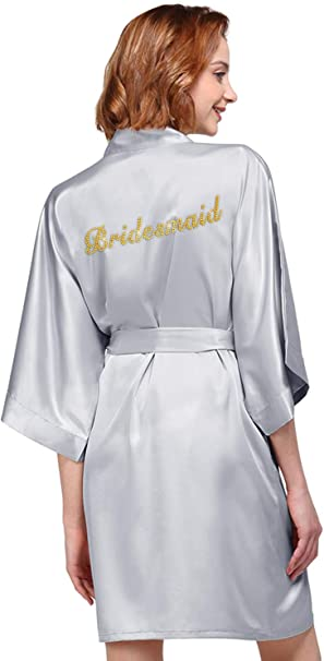 Personalised silk dressing gowns bride,bridesmaid,mother of the bride date x
