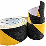 Pusdon Anti Slip Grit Non Skid Safety Tape, Black&Yellow, 2-Inch x 15Ft (50mm x 4.75m)