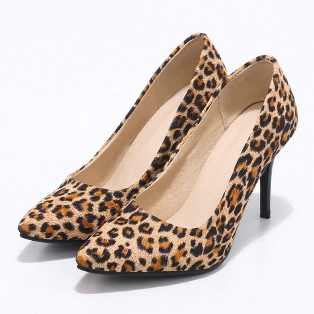 ba3c80a1b932 Amazon.com   Vitalo Womens Leopard Print High Heel Stiletto Pumps Ladies  Classic Court Shoes   Pumps