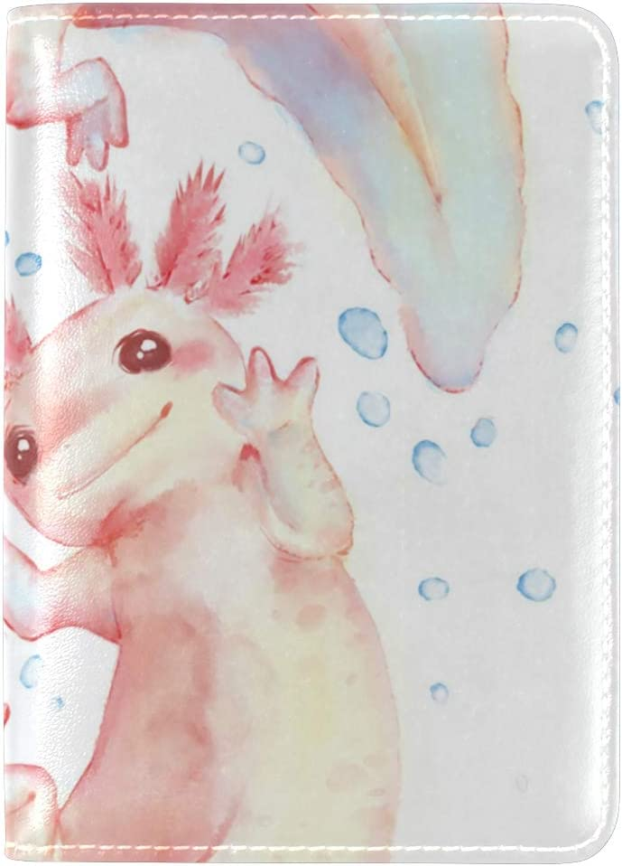 Leather Passport Holder Wallet Cover Case RFID Blocking Travel Wallet Cute Bunny