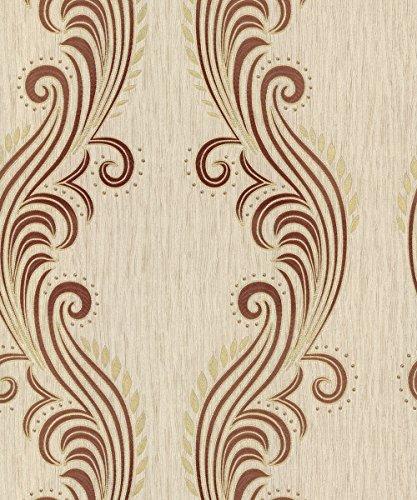Textured Scroll Wallpaper (Belgravia Decor Tiffany Wallpaper GB39021 - Textured Italian Glitter Scroll by Belgravia Decor)