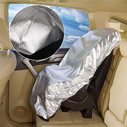 Copertura Parasole Seggiolini Auto Universale UV Protector parasole per seggiolino auto per bambini Argento