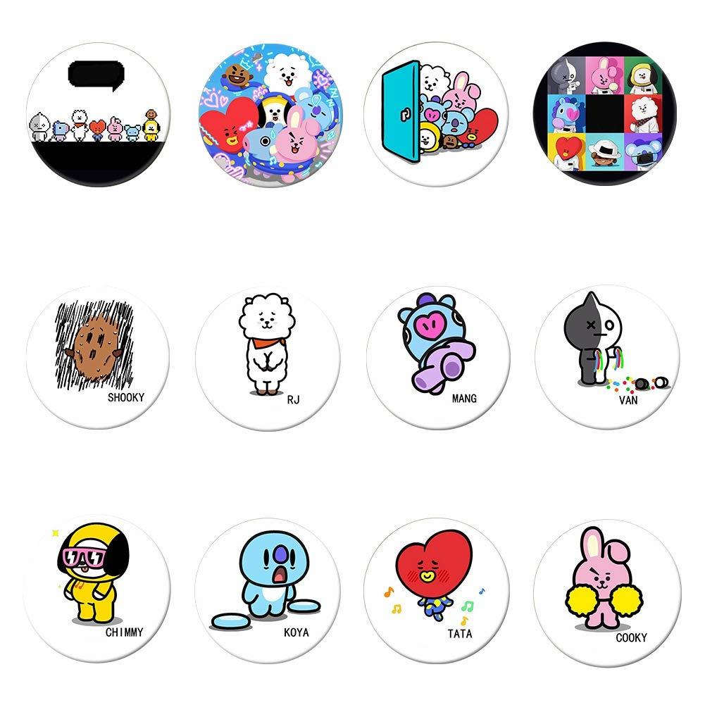 Yovvin 7 Stück BTS Brosche Pin, Kpop Bangtan Jungen Jungkook Jimin V Suga Jin J-Hope Rap Monster Brosche, Beste Geschenk für The Army (BTS-01)