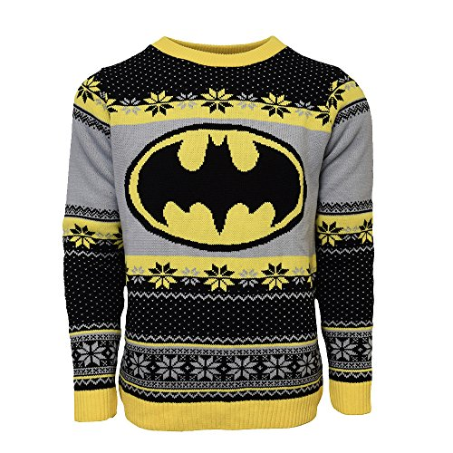 Official Batman Ugly Christmas Sweater - UK XL/US L Black -