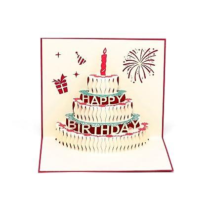 Amazon Paper Spiritz Pop Up Cards Birthday Handmade 3d Pop Up