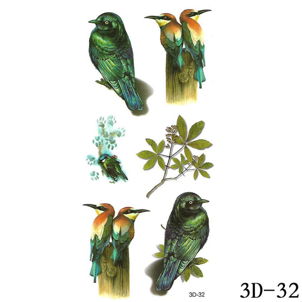 9 piezas grandes pegatinas de tatuaje de brazo de flor pegatinas ...
