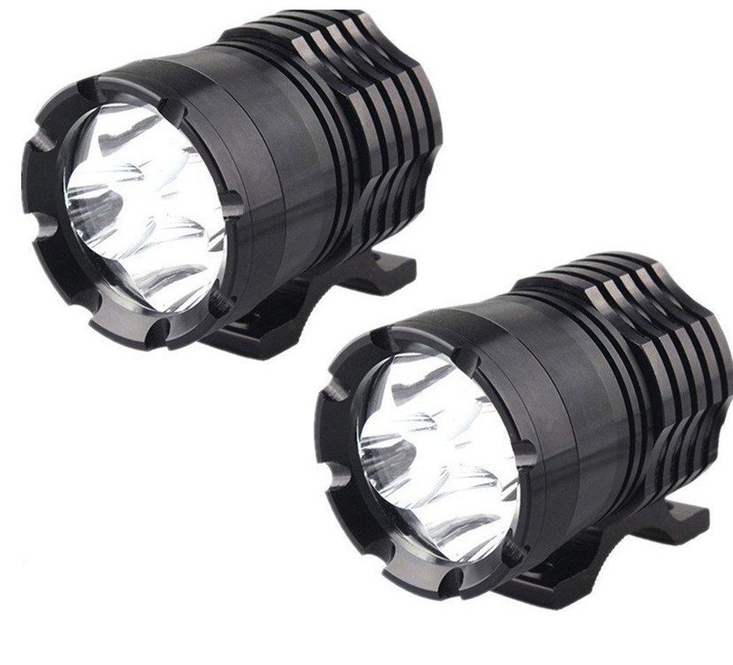 ZHITEYOU 2Pcs Faro LED Per Moto 12V 80W 8000LM U2 LED Per Moto Hi Lo Faretto Proiettore Moto Spot Testa Luce Per Lampada Ausiliaria DRL Luci e barre al neon,Luci diurne