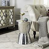 Safavieh Thorium Aluminum Rivet Stool in Silver