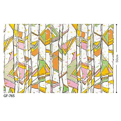 ステンドグラス 飛散低減ガラスフィルム サンゲツ GF-765 91.5cm巾 4m巻 生活用品 インテリア 雑貨 インテリア 家具 その他のインテリア 家具 14067381 [並行輸入品] B07P1HYG5C