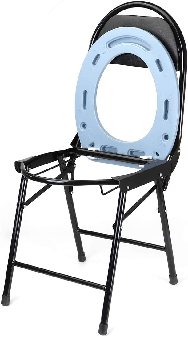 Silla de ducha plegable portátil, baño de cabecera, inodoro, inodoro conveniente, asiento con asiento, silla de ducha para personas discapacitadas de edad avanzada con pies antideslizantes