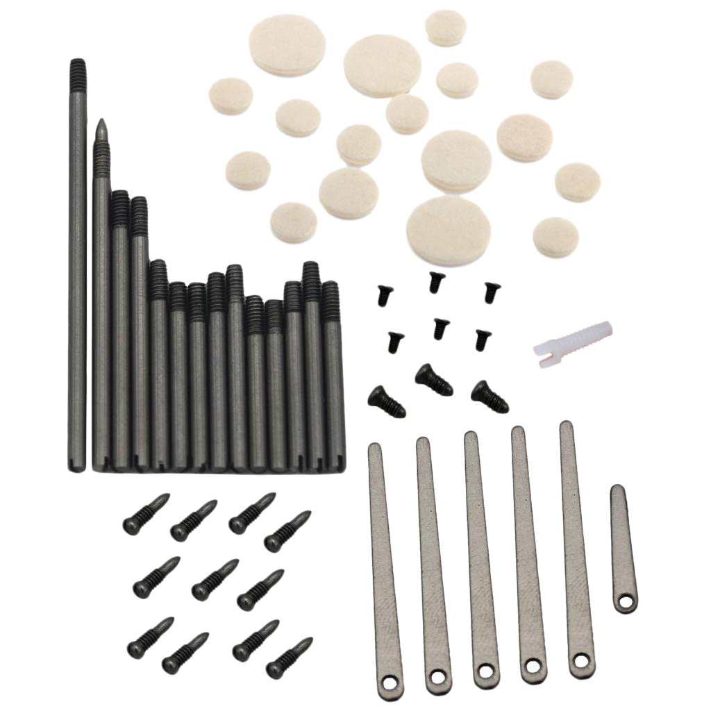 MonkeyJack Set of Clarinet Repair Tool Maintenance Parts Spindle Screws Spring Leaf Soundhole Pads Woodwind Instrument Accessories