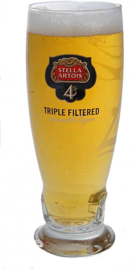 Stella Artois 4% vasos de pinta 567/568 ml (juego de OF 2): Amazon.es: Hogar