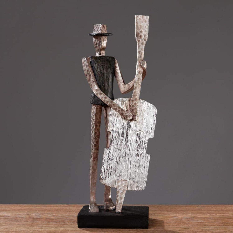FTFTO Living Equipment Estatua Adornos Adornos Estatuas Orquesta Figuras Musicales American Modern Simple Home Sala de Estar Gabinetes de TV Decoraciones de gabinetes de Vino Mobiliario Regalos