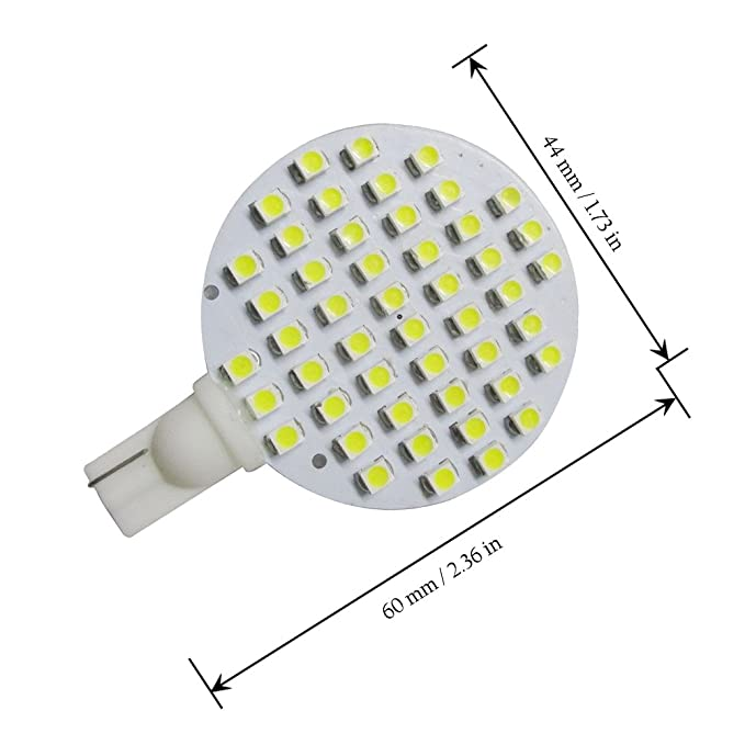 Amazon.com: GRV T10 921 194 48-3528 SMD Wedge LED Bulb lamp Super Bright AC/DC 12V Pack of 10 (Cool White): Automotive