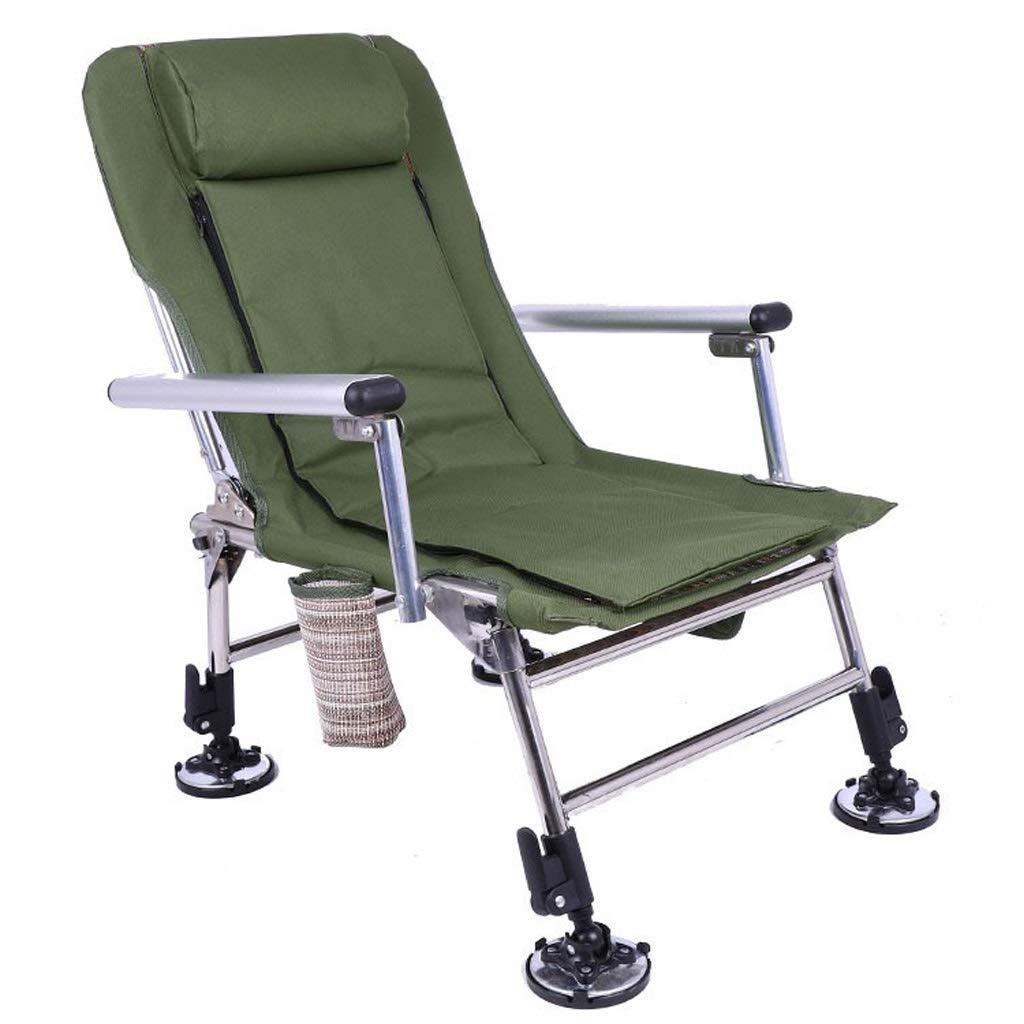 AJZXHE Chaise de Camping Pliante Chaise de pêche, Chaise de Camping, Pied de Boue, pêche à la Carpe, pistage, Nomade  -