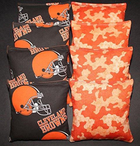 CLEVELAND BROWNS Cornhole Bean Bags 8 ACA Regulation Corn Toss Tailgate (Cleveland Browns Cornhole Bags)