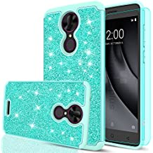 T-Moblie Revvl Plus Glitter Case (Coolpad 6 inch) with HD Screen Protector,LeYi Bling Girls Women Dual Layer Heavy Duty Protective Phone Case for Coolpad T-Mobile Revvl Plus TP Mint