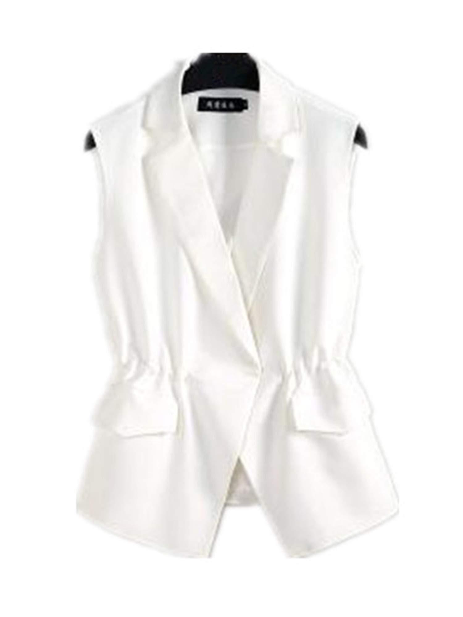 Giles Abbot S-2XL New OL Fashion Women Suit Vest Short Style Elastic Waist Slim Elegant Jackets