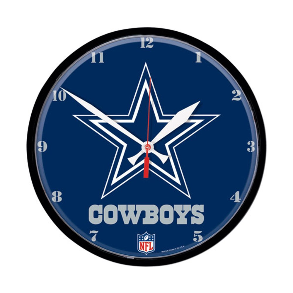 Amazon wincraft win 2900310 dallas cowboys nfl round wall amazon wincraft win 2900310 dallas cowboys nfl round wall clock sports outdoors amipublicfo Gallery