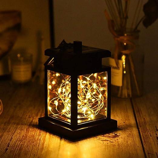 Womdee Farol Solar para Mujer con luz Solar LED para Exteriores, Impermeable, para Mesa, jardín, Patio, césped: Amazon.es: Hogar