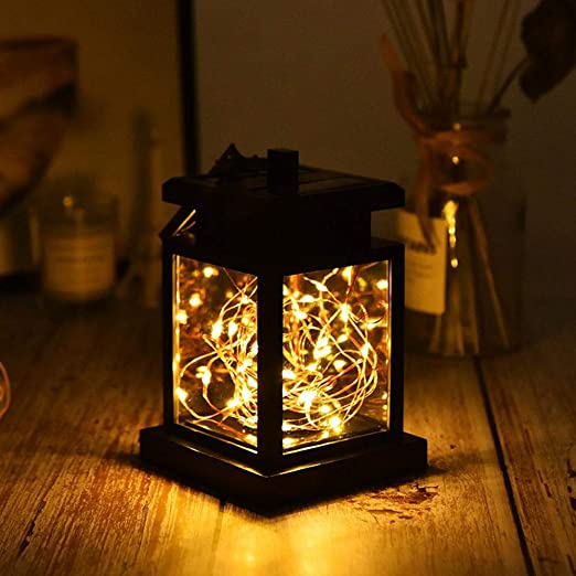 Womdee Farol Solar para Mujer con luz Solar LED para Exteriores ...