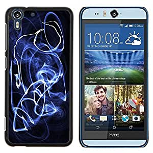 Eason Shop / Premium SLIM PC / Aliminium Casa Carcasa Funda Case Bandera Cover - Enfriar Ver Carretera Coche Cristal Negro Fotografía en blanco - For HTC Desire Eye ( M910x )