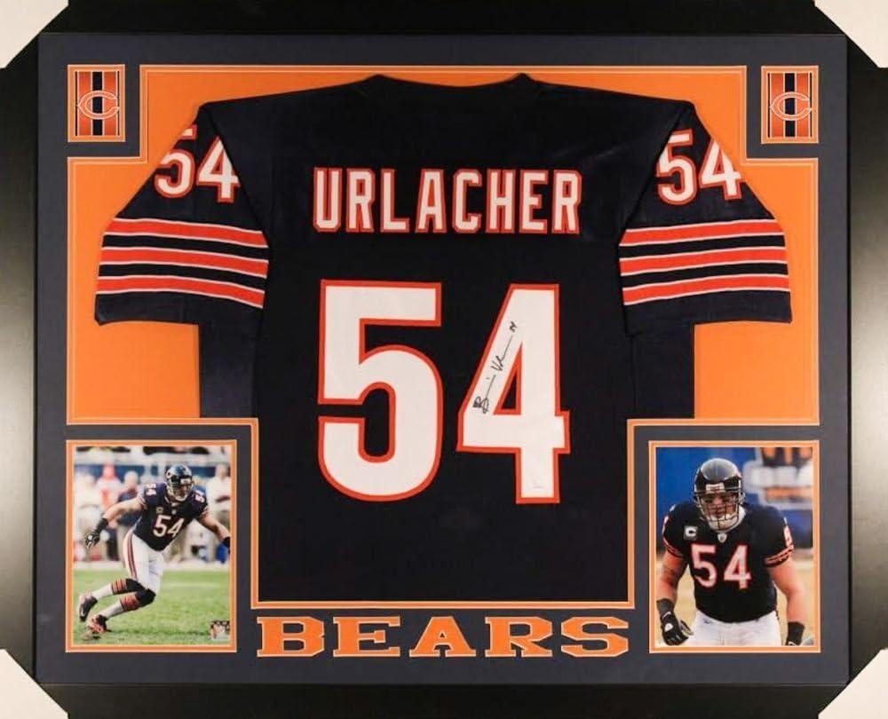 Brian Urlacher Signed Bears 35x43 Custom Framed Jersey (JSA COA)