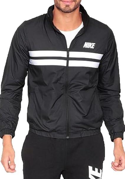 25b0c00f5 Amazon.com: Nike Mens Advantage Zip Wind Jacket Black/White: Sports &  Outdoors