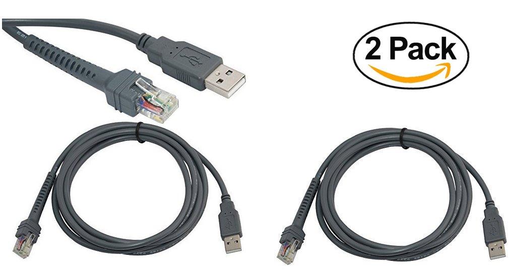 Amazon Symbol Ls2208 Usb Cable Cba U01 S07zar 2 Pack