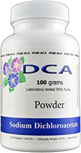 Pure DCA - Sodium Dichloroacetate 100 Grams Powder Complete with Analytical Certificate of Purity - Buy with Confidence 10 Years Worlds Largest Supplier