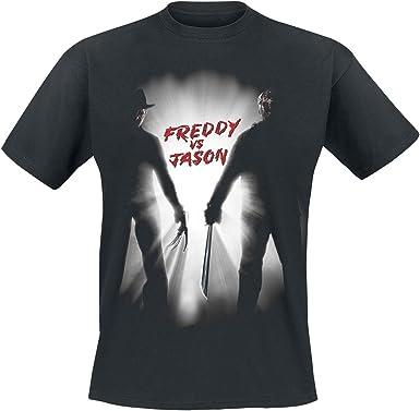 Pesadilla en Elm Street Freddy VS Jason Camiseta Negro S, 100 ...